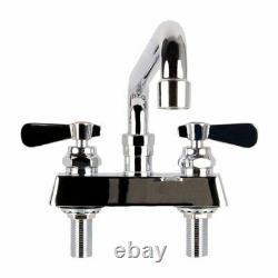 12 Swing Spout Commercial Sink Faucet Bar Deck Mount Heavy Duty 4 Centers GPM