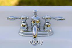 4 Center Set Lavatory Faucet Pop-Up KS7101TAL, Polished Chrome Lever Handles