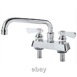 8 Swing Spout Commercial Sink Faucet Bar Deck Mount Heavy Duty 4 Centers