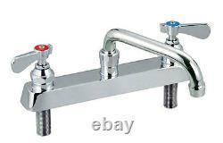 BK Resources BKF-8DM-12-G Deck Mount 12 NO LEAD Swing Spout Faucet with 8 Center