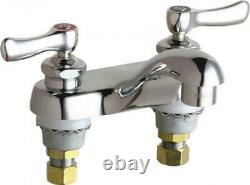 Chicago Chrome Deck Mounted Lavatory Faucet with 4 centers CCCC, 802-VXKCP