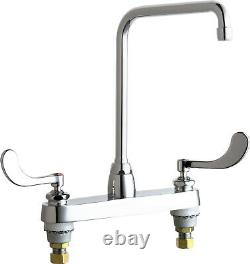 Chicago Faucet 1100-HA8-317CP Deck-mounted sink faucet with 8 centers Chrome
