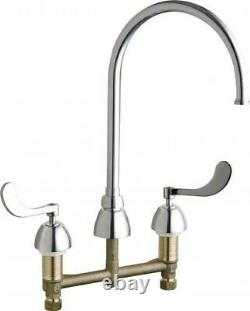 Chicago Faucet 786-GN8FCXKABCP Deck Mount 8 Center ridged spout wrist blade