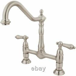 Elements of Design ES1178AL New Orleans 2-Handle 8 Center Bridge Kitchen Faucet