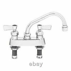 Fisher 4 Centers Deck Faucet With16 Swing Spout, Stainless Steel, 53791