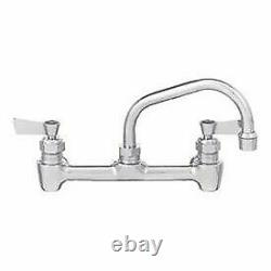 Fisher 8 Centers Backsplash Faucet With8 Swing Spout, Stainless Steel, 61077