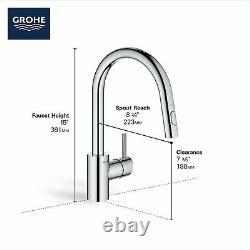 Grohe Concetto Single-Handle Pull-Out Kitchen Faucet with Dual Spray