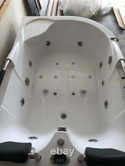 Jacuzzi 2 Person Whirlpool Tub White 72 x 48 Corner Install NO RESERVE