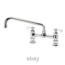 KROWNE 15-812L Royal Series 8 Center Raised Deck Mount Faucet With 12 Spout