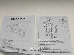 Kingston Brass Heritage 8 Center Kitchen Bridge Faucet Matte Black KS1270ALBS