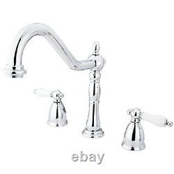 Kingston Brass Heritage 8 Center Kitchen Faucet without Deck