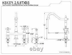 Kingston Brass KS1272TXBS French Country Center set Kitchen Faucet Sprayer 8