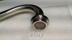 Kingston Brass KS1278TALBS Tudor 8 Inch Center Kitchen Faucet With Sprayer