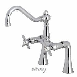 Kingston Brass KS3231BEX 7 Center Deck Mount Tub Faucet, Polished Chrome