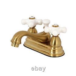 Kingston Brass KS3607PX 4-Inch Center Lavatory Faucet, Satin Brass