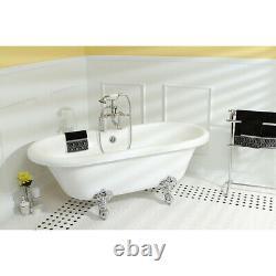 Kingston Brass VT7DS672924H Aqua Eden 66-9/16 Acrylic Soaking White