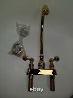 Kohler 16112-4A-PB Revival Polished Brass 4 Center Bar Sink Faucet