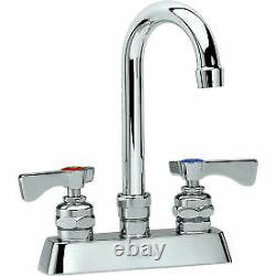 Krowne 15-301L Royal Series 4 Center Deck Mount Faucet, 6 Gooseneck Spout