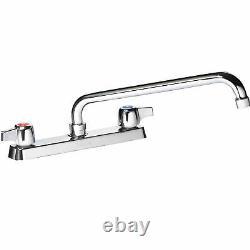 Krowne Commercial Series 8 Center Deck Mount Faucet, 12 Spout, 13-812L