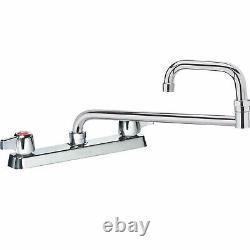 Krowne Commercial Series 8 Center Deck Mount Faucet, 18 Jointed Spout, 13-818L
