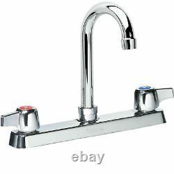 Krowne Commercial Series 8 Center Deck Mount Faucet, 6 Gooseneck Spout
