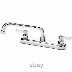 Krowne Commercial Series 8 Center Deck Mount Faucet, 8 Spout, 13-808L