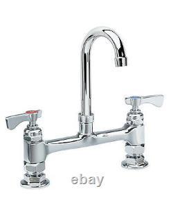 Krowne Metal 15-825L Deck Mount 3-1/2 Gooseneck Faucet with 8 Center LOW LEAD