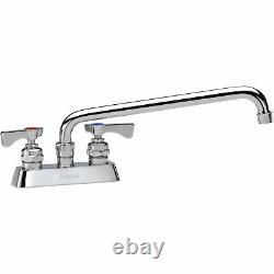 Krowne Royal Series 4 Center Deck Mount Faucet, 16 Spout, 15-316L