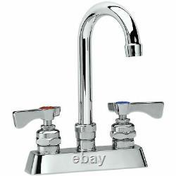 Krowne Royal Series 4 Center Deck Mount Faucet, 6 Gooseneck Spout, 15-301L