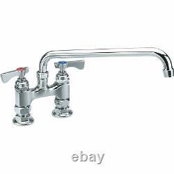 Krowne Royal Series 4 Center Raised Deck Mount Faucet, 12 Spout, 15-412L