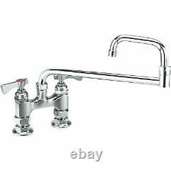 Krowne Royal Series 4 Center Raised Deck Mount Faucet, 18 Jointed Spout