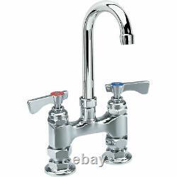 Krowne Royal Series 4 Center Raised Deck Mount Faucet, 3-1/2 Gooseneck Spout