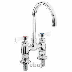 Krowne Royal Series 4 Center Raised Deck Mount Faucet, 6 Gooseneck Spout