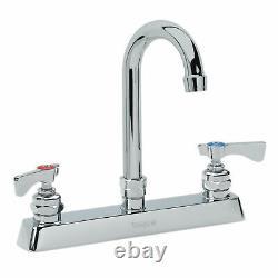 Krowne Royal Series 8 Center Deck Mount Faucet, 6 Gooseneck Spout, 15-501L