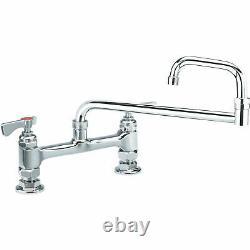 Krowne Royal Series 8 Center Raised Deck Mount Faucet, 18 Jointed Spout