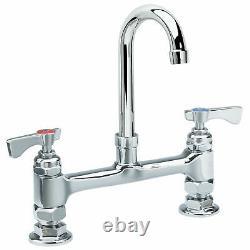 Krowne Royal Series 8 Center Raised Deck Mount Faucet, 3-1/2 Gooseneck Spout