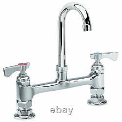 Krowne Royal Series 8 Center Raised Deck Mount Faucet, 6 Gooseneck Spout