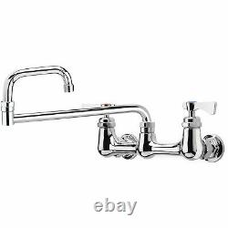 Krowne Royal Series 8 Center Wall Mount Faucet, 18 Jointed Spout, 14-818L