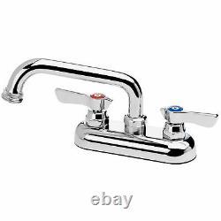 Krowne Silver Series 4 Center Deck Mount Laundry Faucet, 6 Spout, Hose