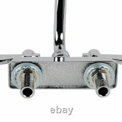 Low Lead Deck Mount Commercial Sink Heavy Duty Faucet 4 Centers 12 Swing Spout