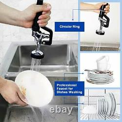 MS 4-8 Inch Adjustable Center Deck Mount 25'' Height Commercial Kitchen Sink