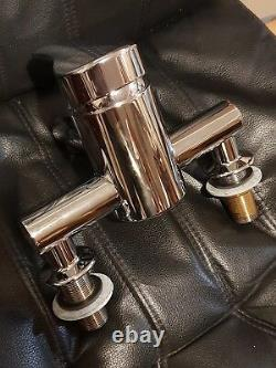 Oxi bath filler tap twin hole greens made in new Zealand chrome 180mm centres