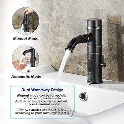 TUSEE Manual and Automatic Integrated Faucet with Rotatable Spout, Touchless