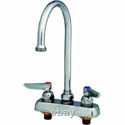 T&S Brass B-1141 Workboard Deck Mounted Faucet With 4 Centers & 133X Swing