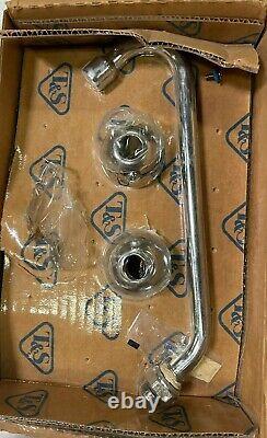 T&S Brass B-2855 Lav Faucet, 8 Centers, Lever Handles, 9 Swing Nozzle (Chrome)