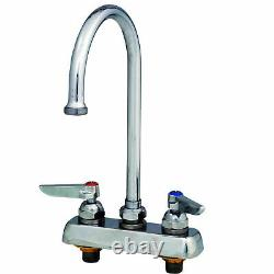 T&S Brass Workboard Deck Mounted Faucet With 4 Centers & 133X Swing Gooseneck