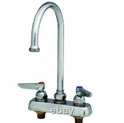 T&S Brass Workboard Deck Mounted Faucet With 4 Centers & 133X Swivel Gooseneck