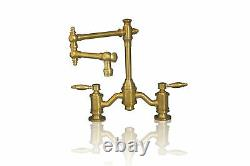 Watermark Fixtures 20-WMF-NB-DMB-8SS Unlacquered Brass 8-Inch On Center