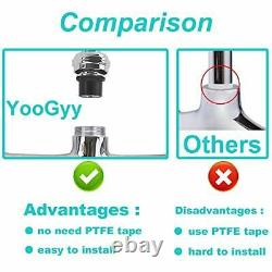 YG Commercial Sink Kitchen Faucet Pull Down Pre-rinse Sprayer 8'' Center Wall