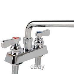 12 Swing Spout Commercial Sink Robinet Bar Deck Mount Heavy Duty 4 Centres Gpm